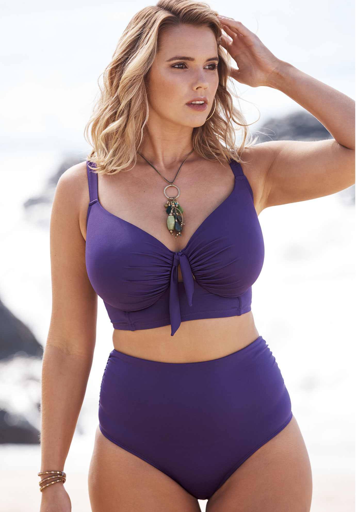 dde6a7f03ffb1 Longline Bikini Top  Plus Size Active & Swimwear   Full Beauty