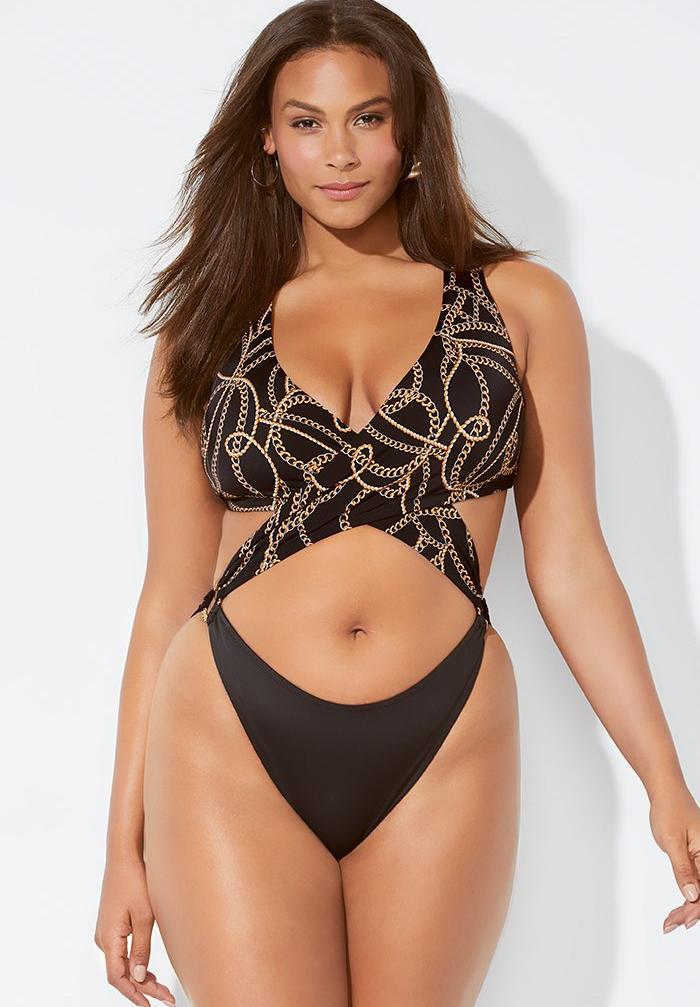 Ashley Graham x Swimsuits For All Notorious Monokini Swimsuit,