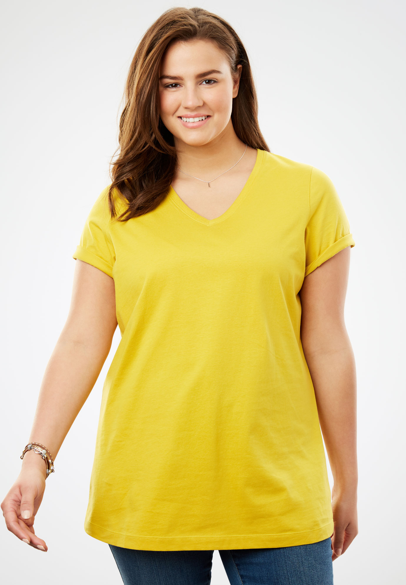 9bc165bb5 Perfect V-Neck Tee| Plus Size Tops & Tees | Full Beauty