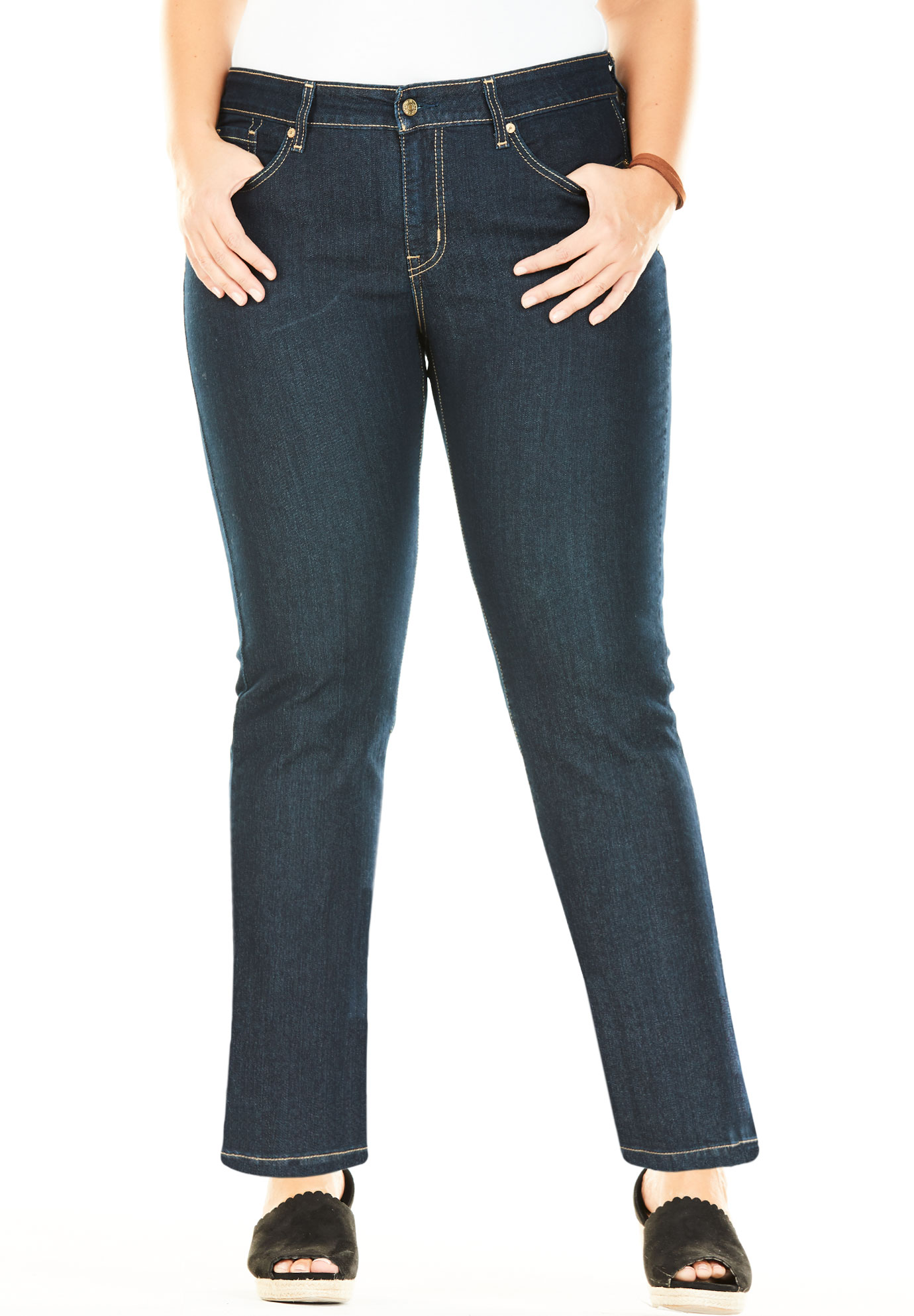 Signature by Levi Strauss & Co.™ Totally Shaping Pull-On Boot Cut Jeans,