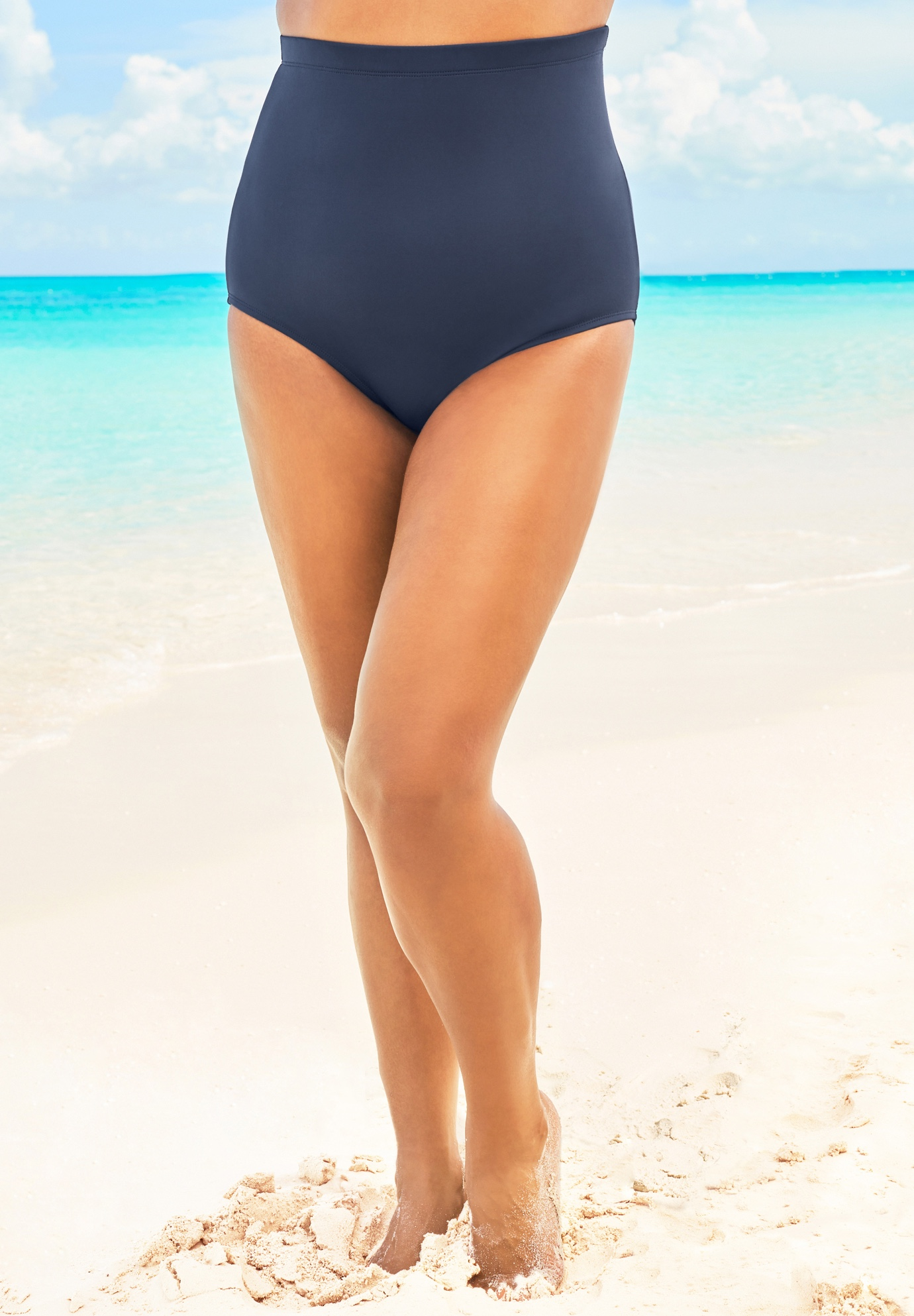 High-Waist Swim Brief with Tummy Control,