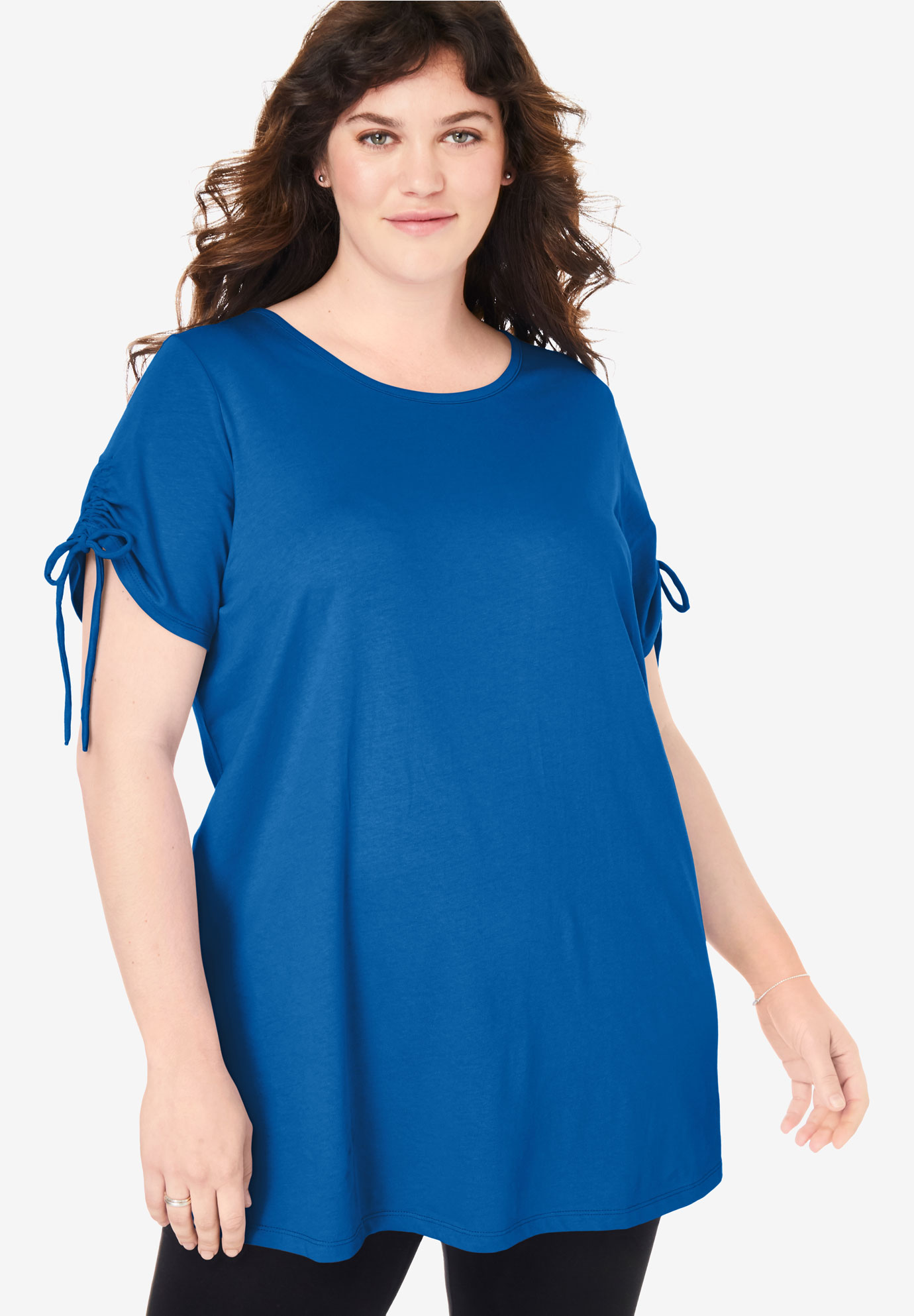 Perfect Ruched-Sleeve Tunic,
