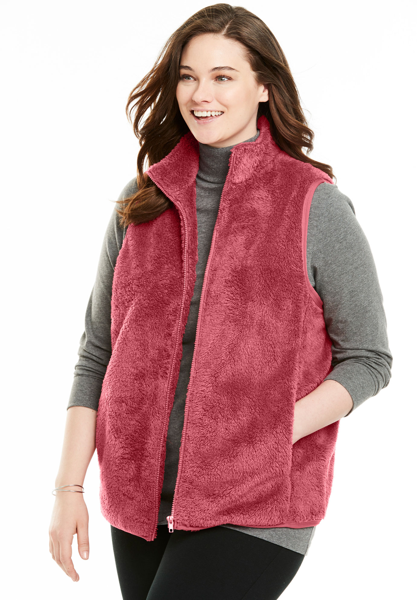 Fluffy Fleece Vest,
