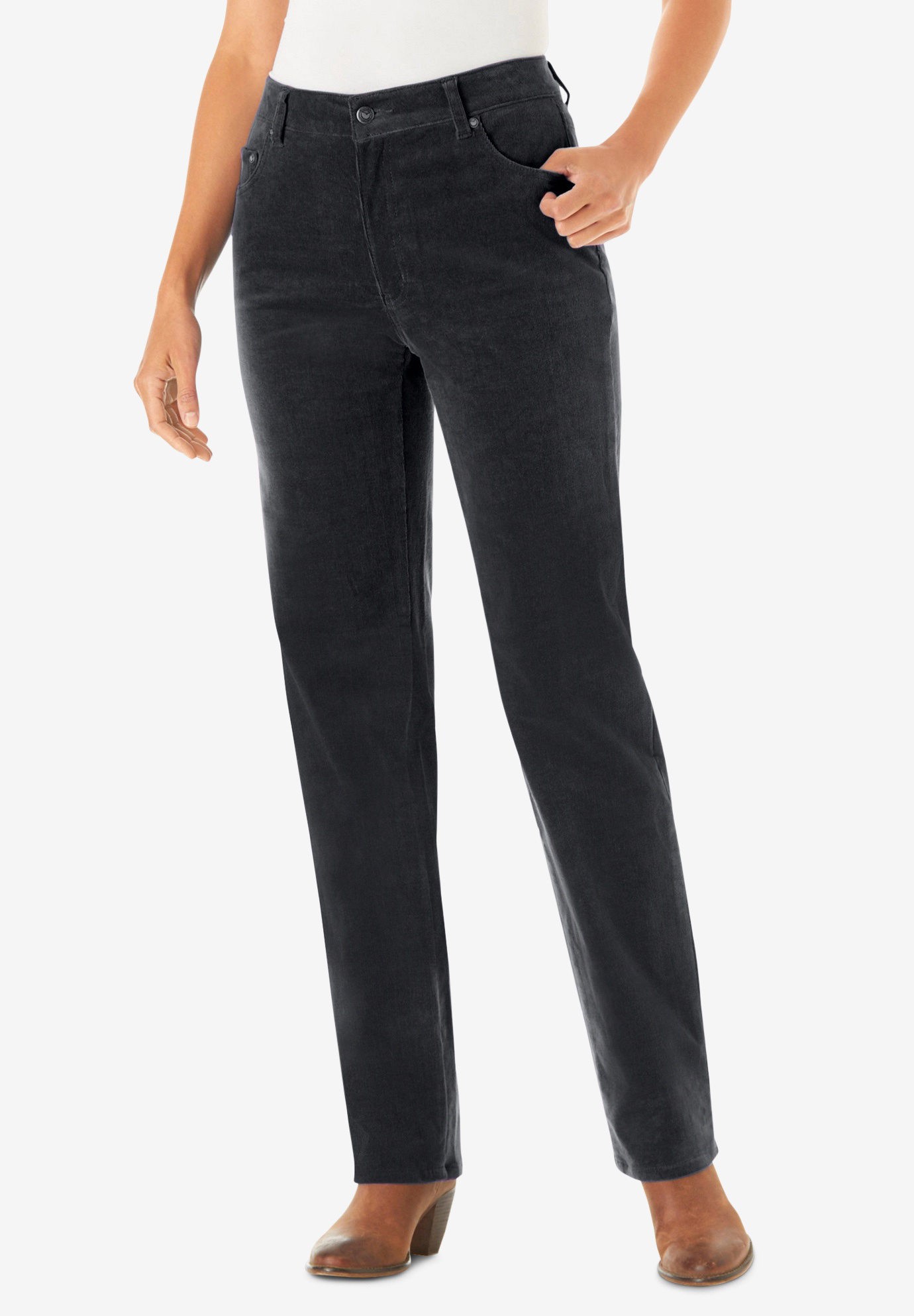 a53022606ee Corduroy Straight Leg Stretch Pant| Plus Size Casual Pants | Full Beauty