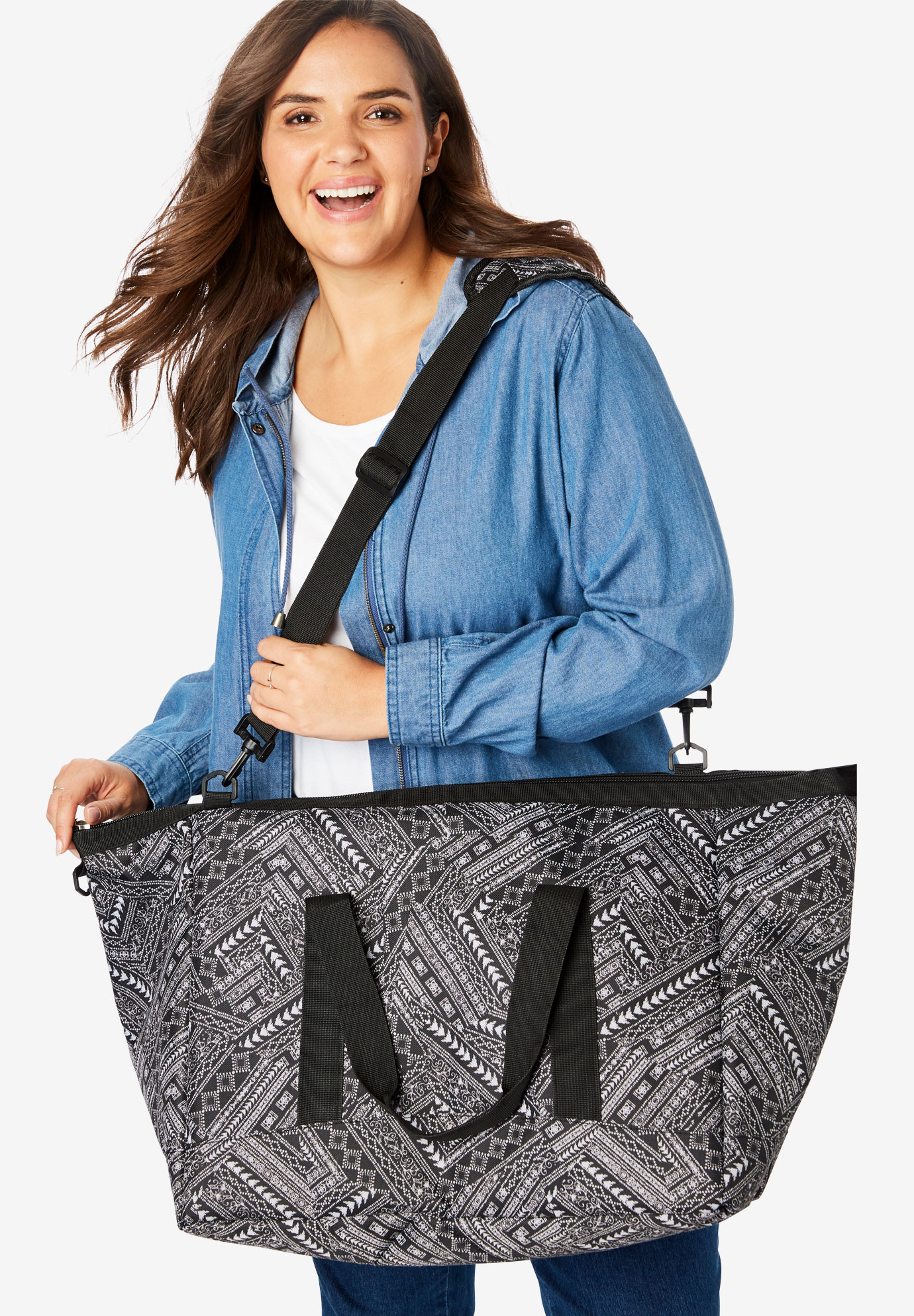 Weekender Bag Set, BLACK GLOBAL PATCHWORK
