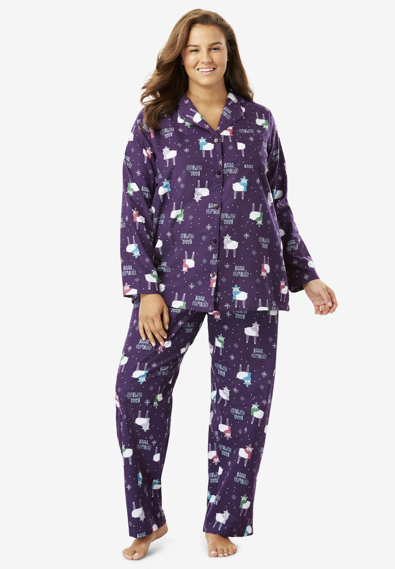 3544d1987e53 Printed Flannel PJ Set by Dreams   Co.®