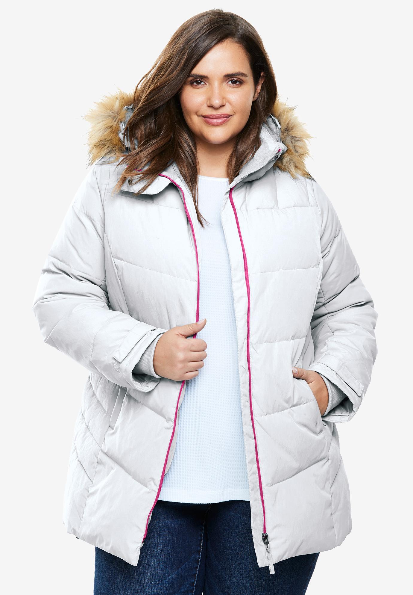 0066fc39418 Fur Trim Hooded Ski Jacket