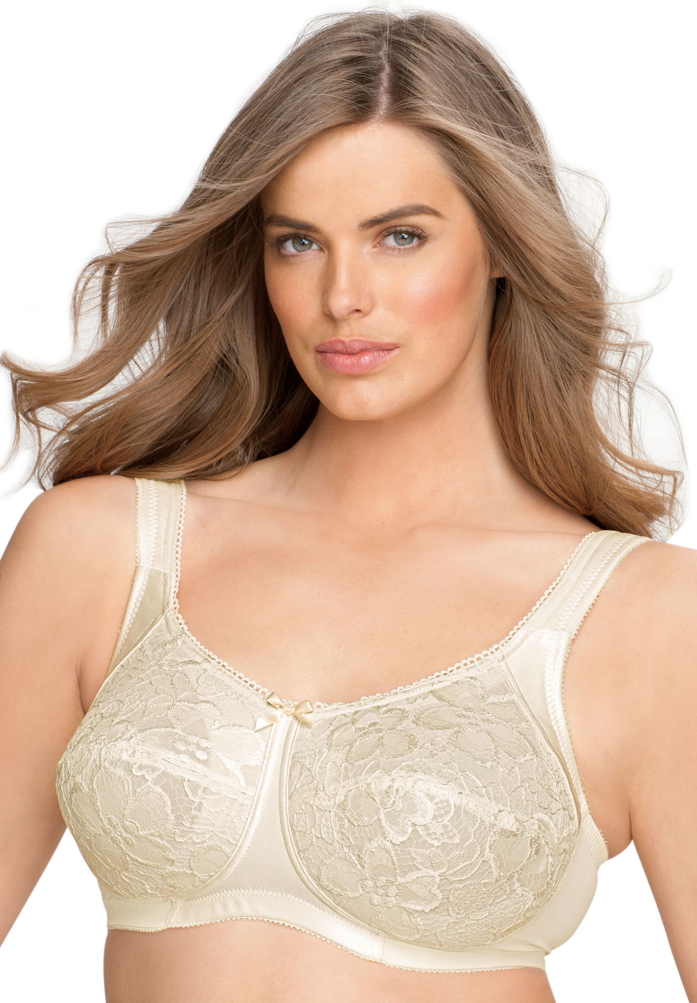a50d2f1bf0 Wireless allover lace bra by Aviana®