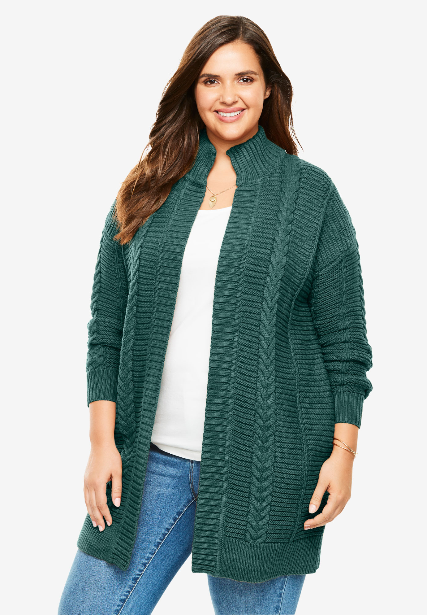 Chunky Knit Cardigan Plus Size Sweaters Cardigans Full Beauty