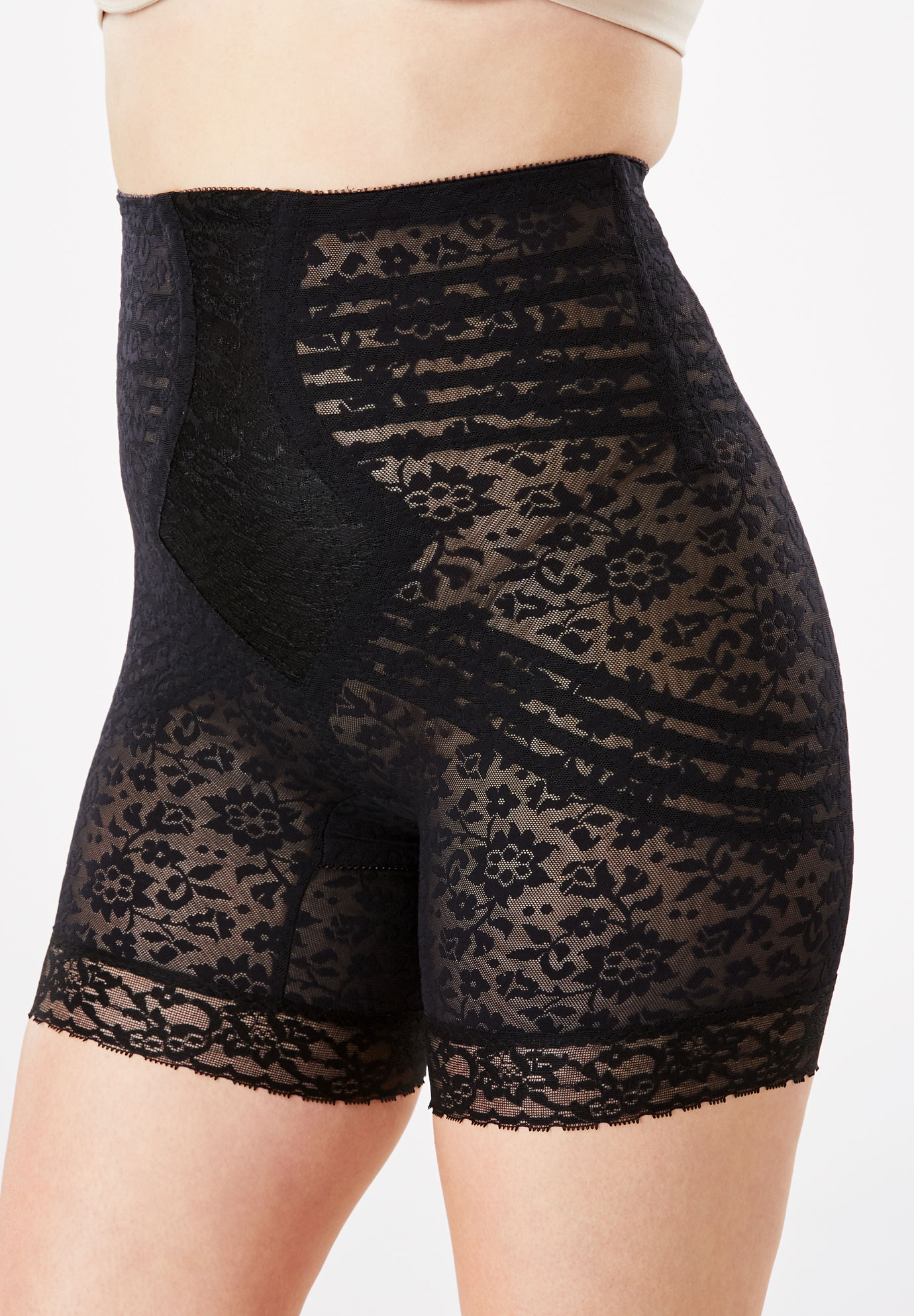Jacquard Lace Shaping Thigh Slimmer by Rago®,