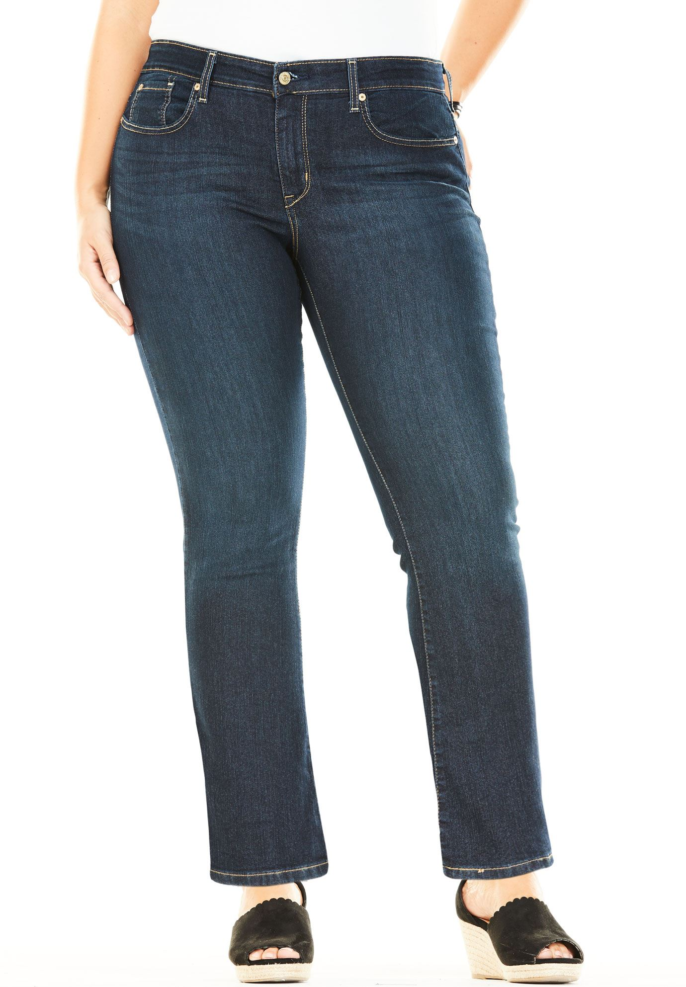 523196175adf7 Signature by Levi Strauss   Co. trade  Simply Stretch Plus Modern Bootcut  Jeans