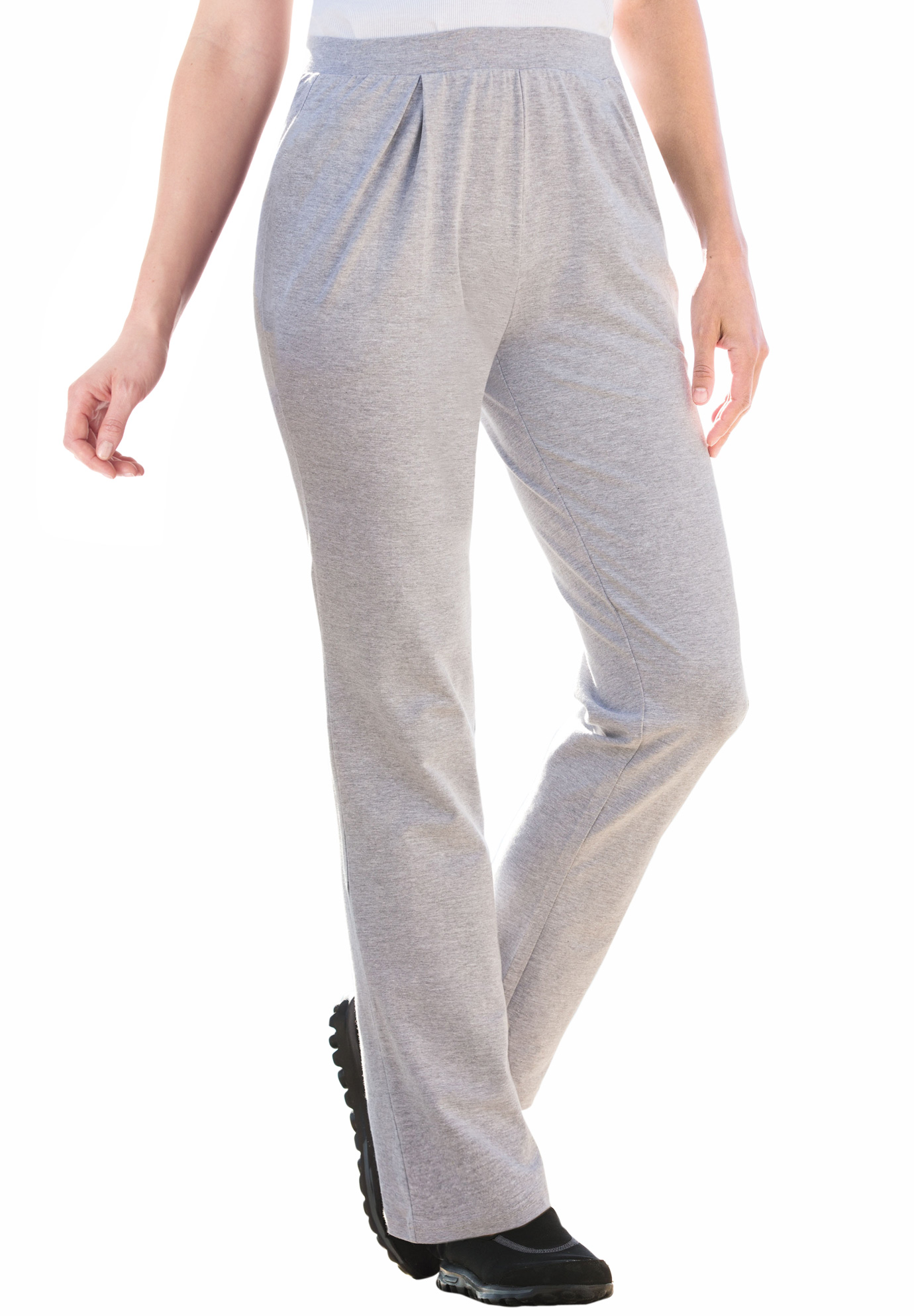 50a124ff9ba Woman Within® Pleat Front Knit Pants