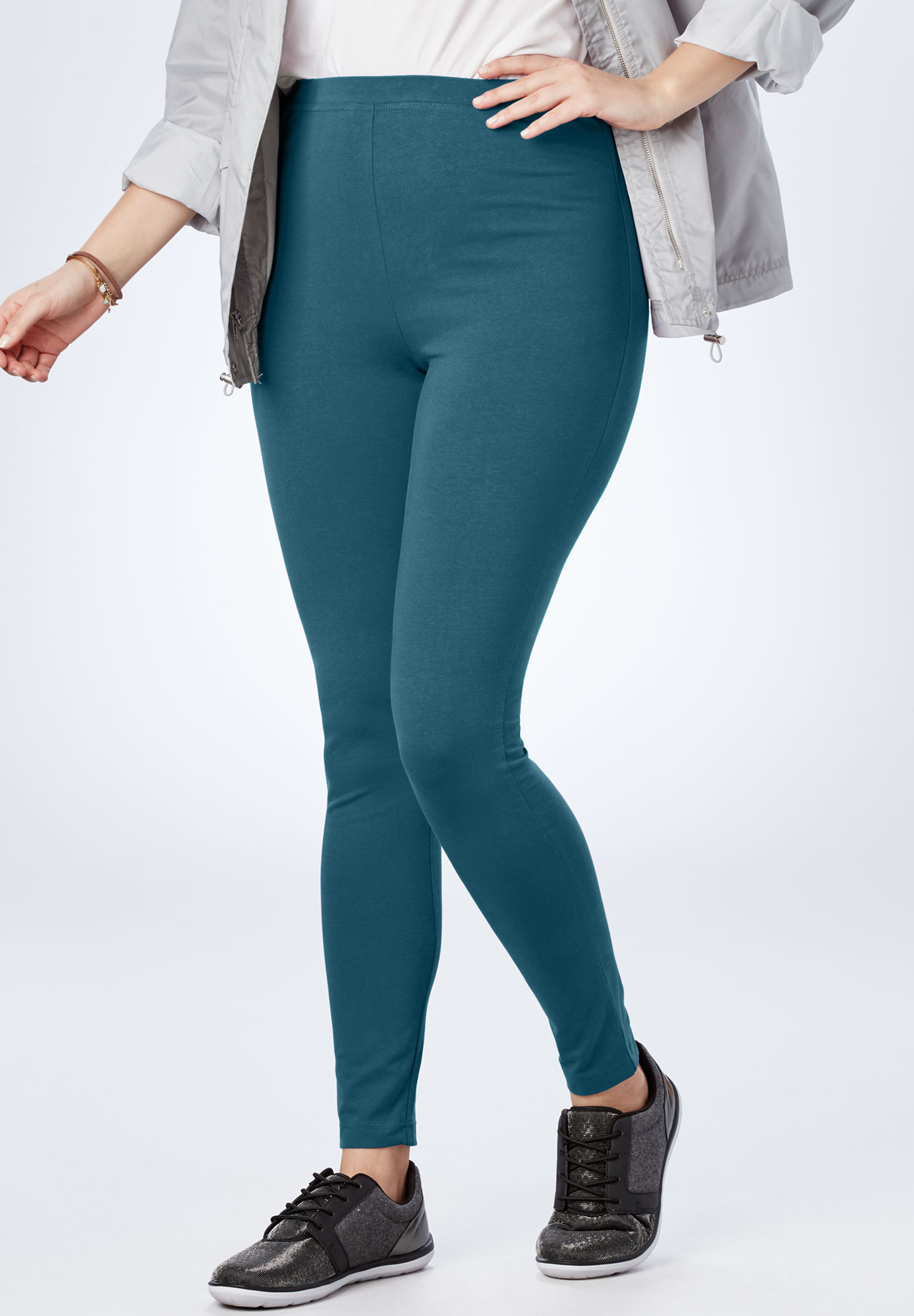 afc16569a724f Stretch Cotton Legging| Plus Size Pants | Full Beauty