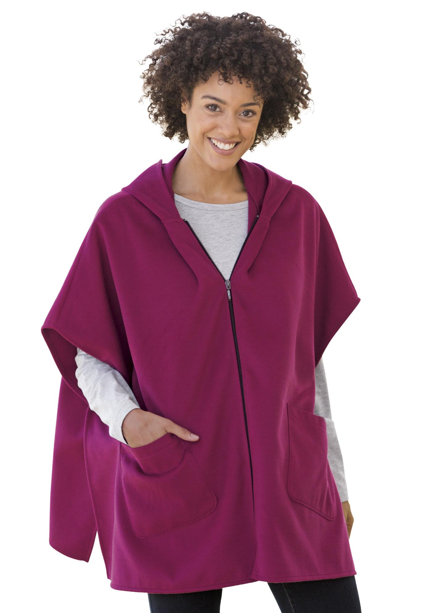 39ebaca3a4bdb4 Hooded fleece poncho