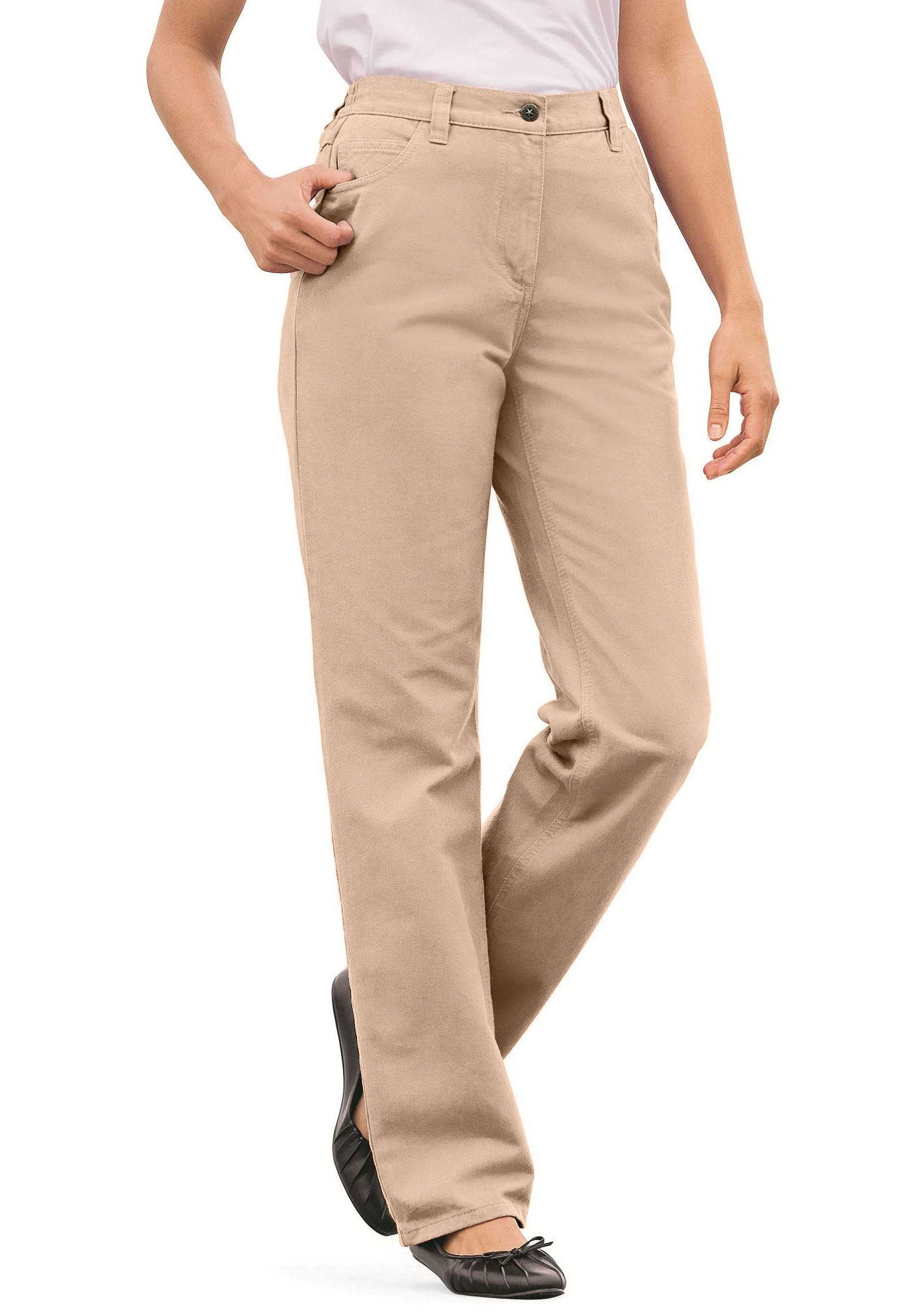 Cotton Straight Leg Jean, NEW KHAKI