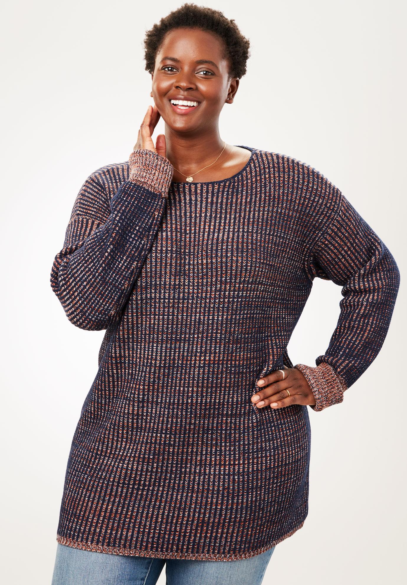 Multi Chunky Knit Sweater Plus Size Sweaters Cardigans Full Beauty