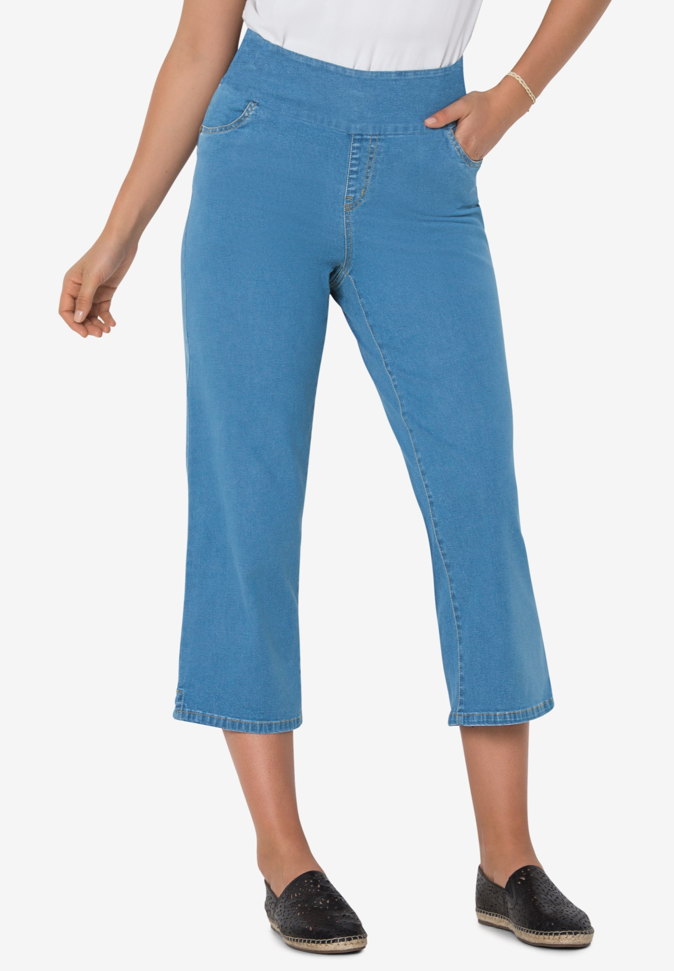 Smooth Waist Capri Jean,