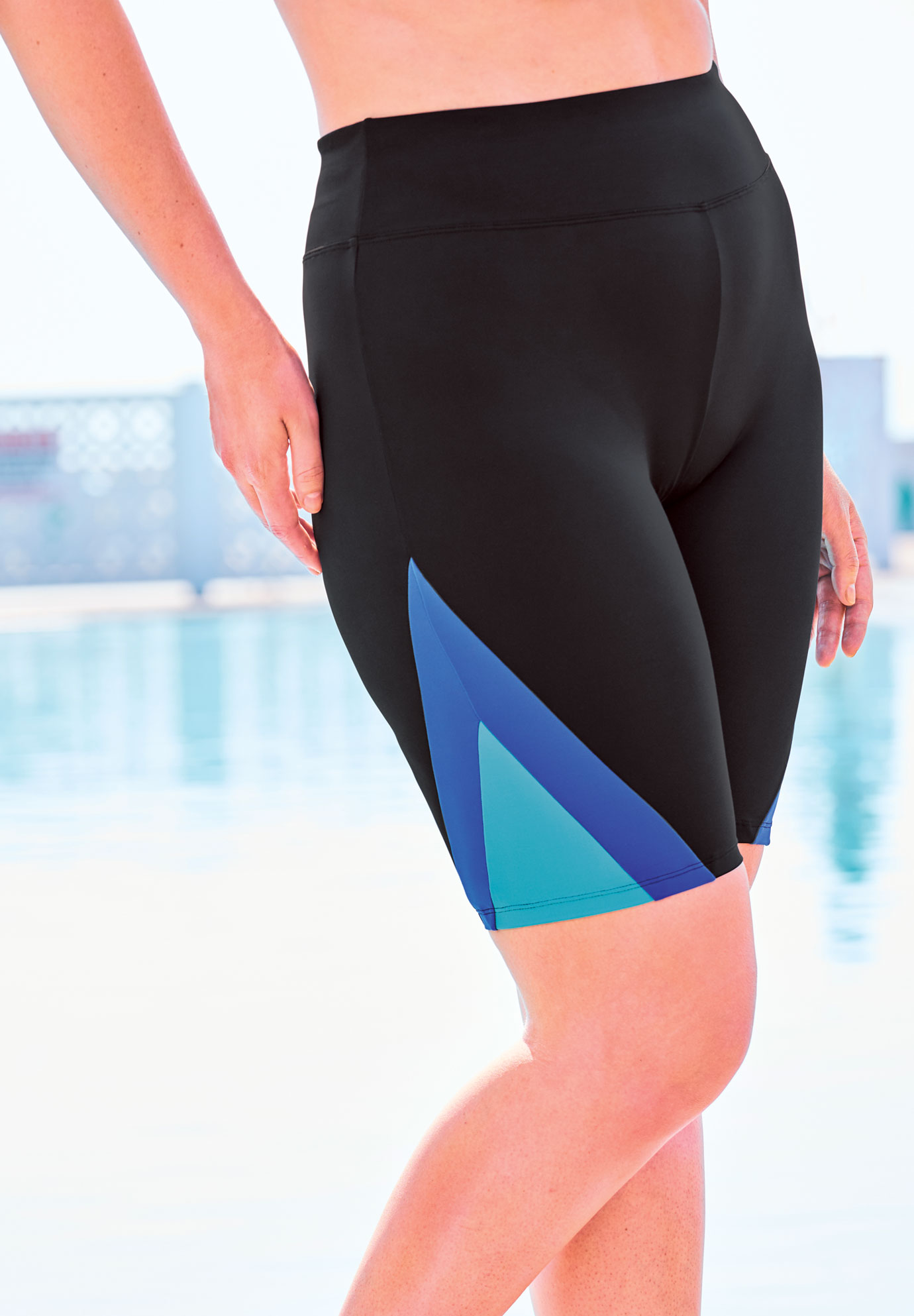 Colorblock Swim Shorts with Sun Protection by Swim 365,