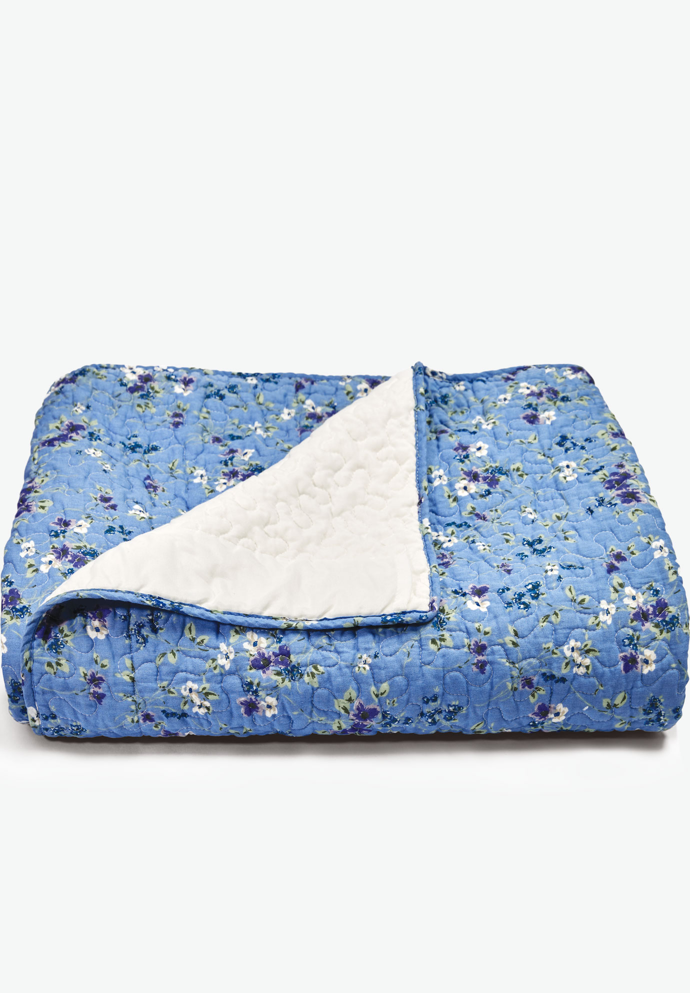 Patterned Quilt, FRENCH BLUE PRETTY FLORAL