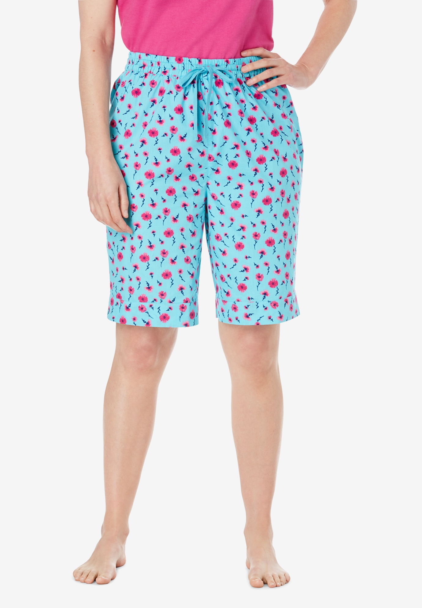Cotton Poplin Pajama Shorts by Dreams & Co.®,