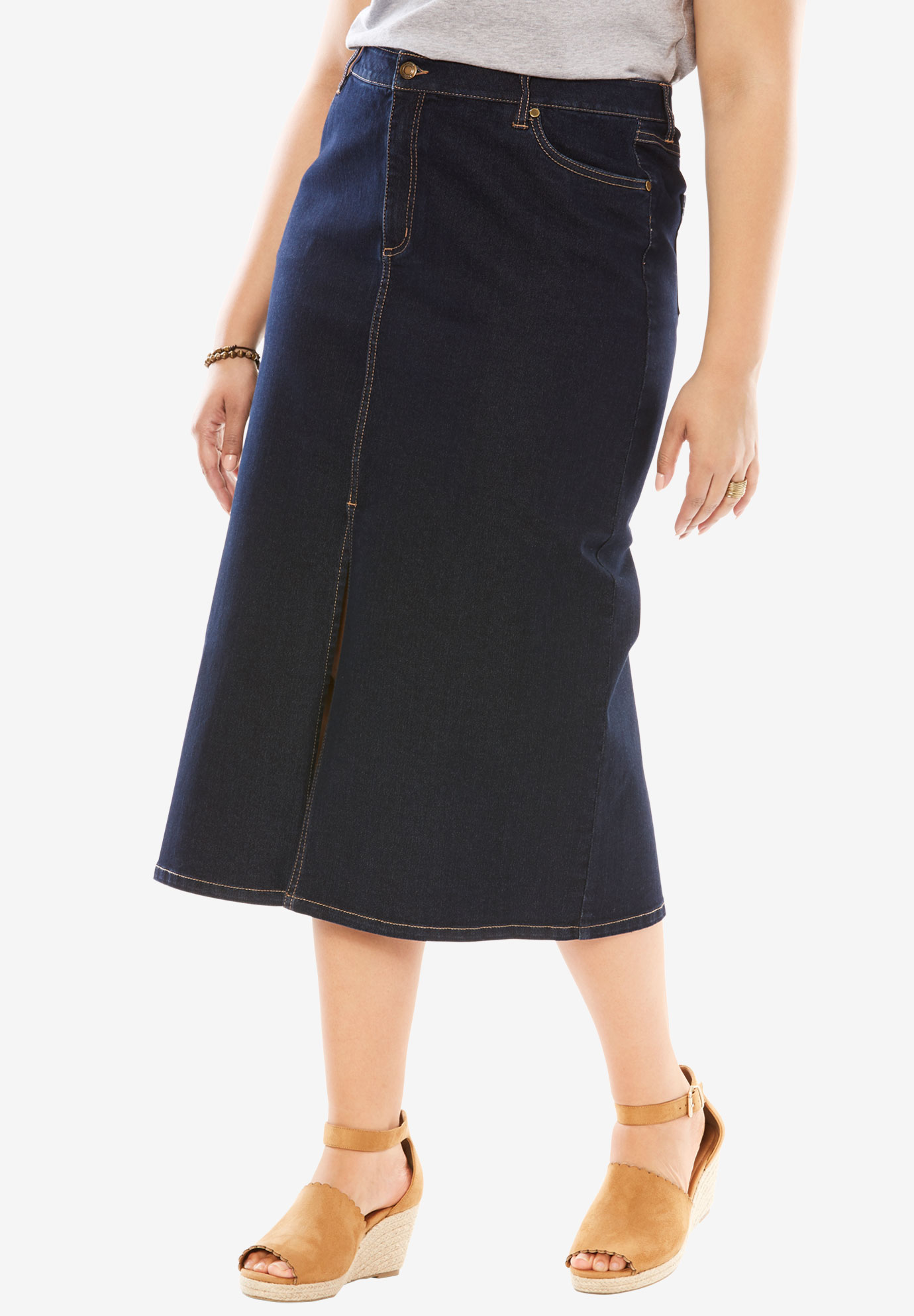 8cbd4d4c9b Straight Stretch Denim Skirt | Huston Fislar Photography