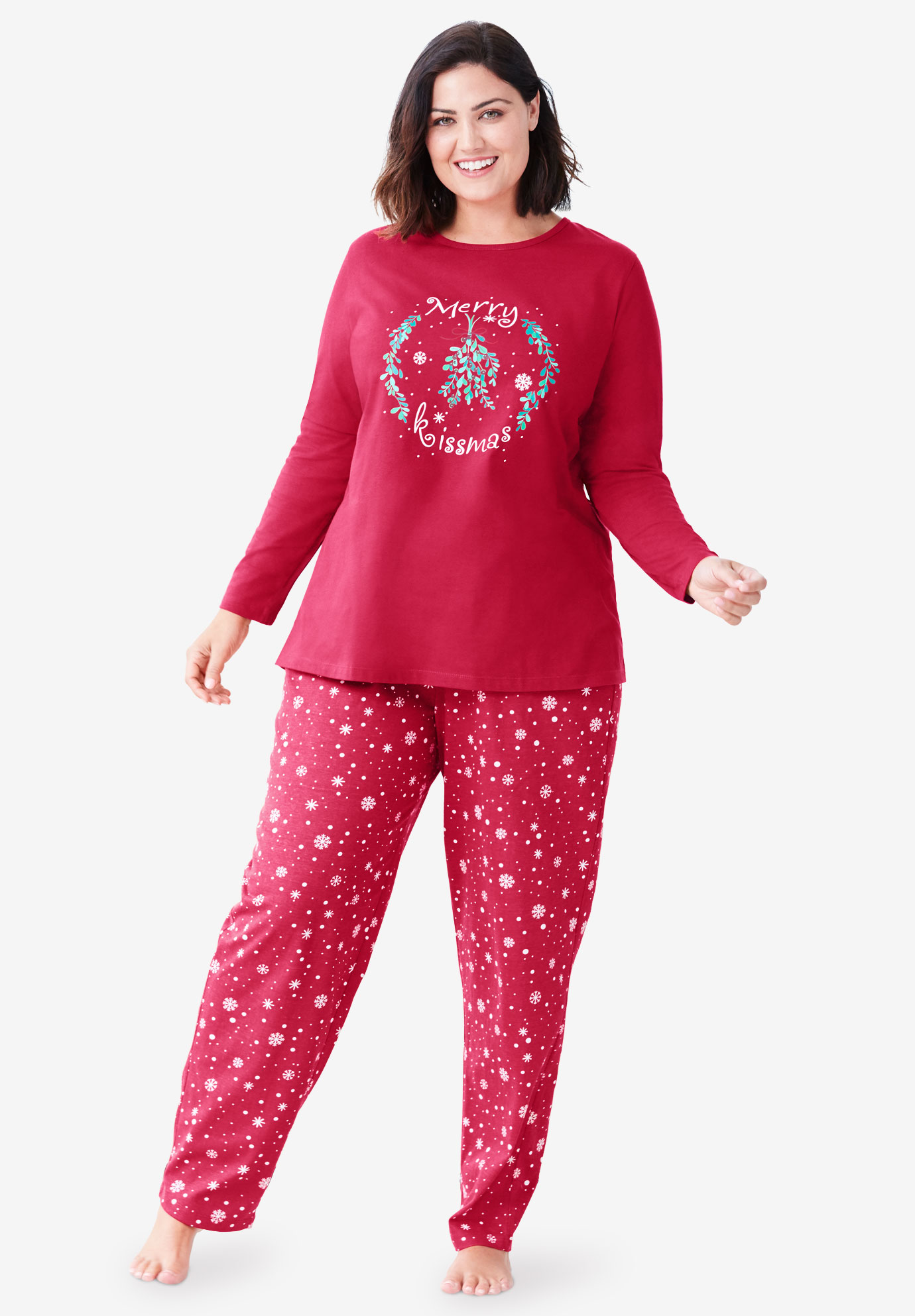 Long Sleeve Knit PJ Set ,