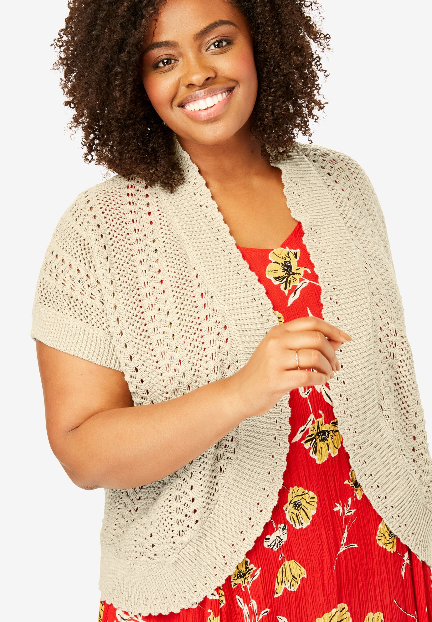 Pointelle Knit Shrug,