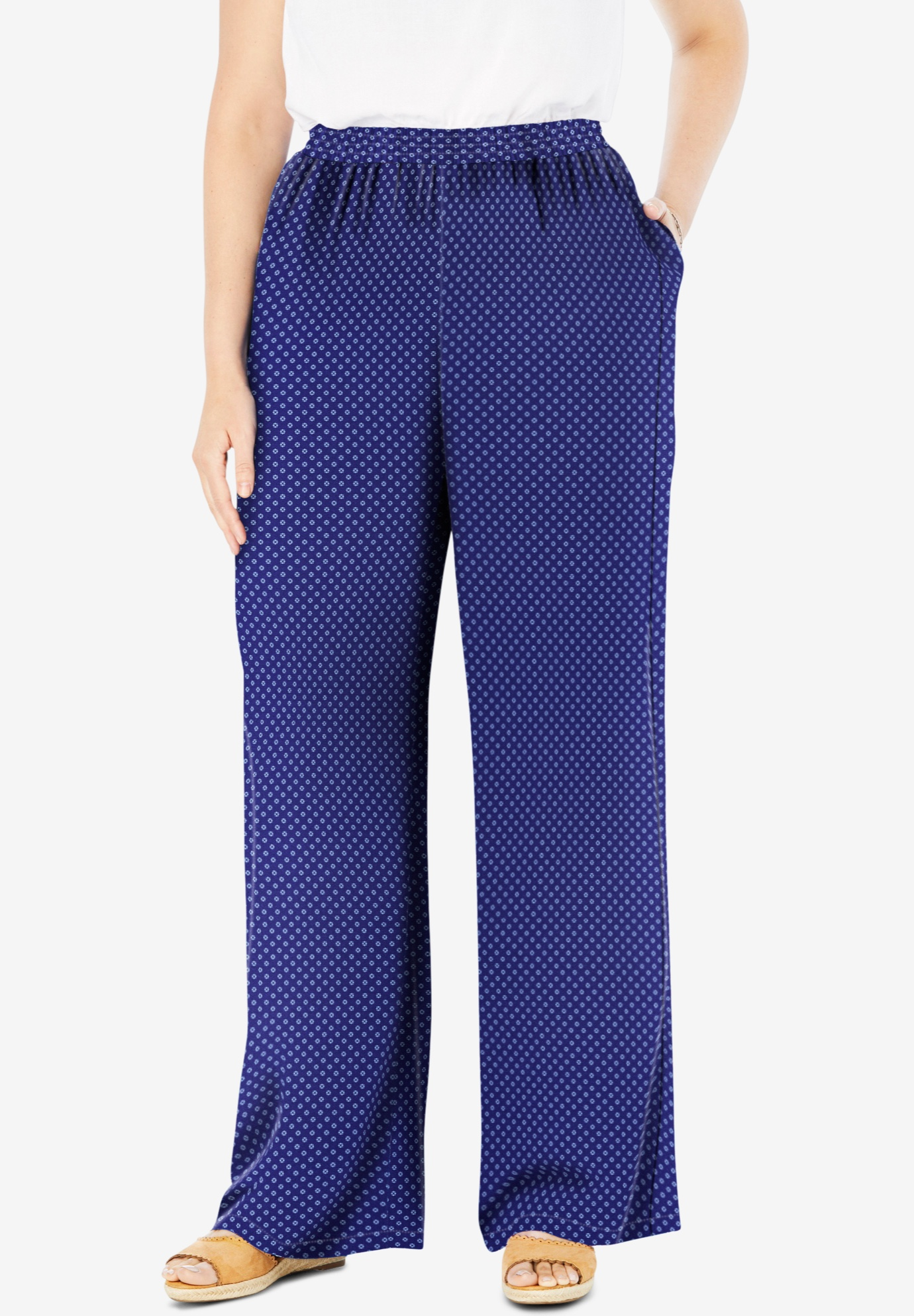 Pull-On Elastic Waist Soft Pants,