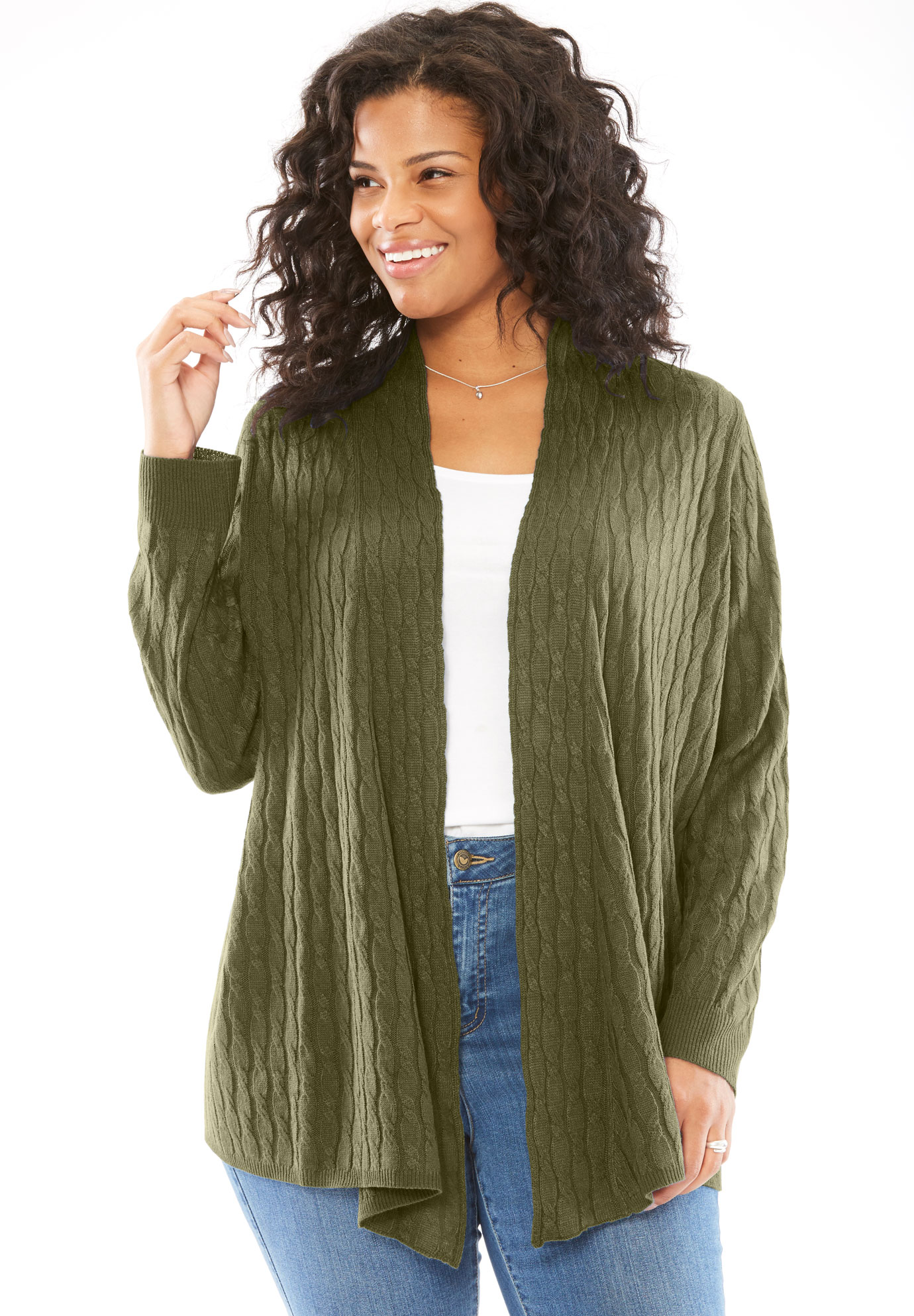 Lightweight Cabled Cardigan,