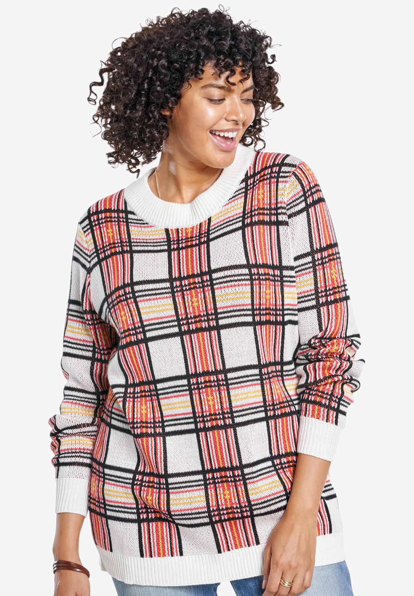 3f9ad42a22a Buffalo plaid pullover sweater