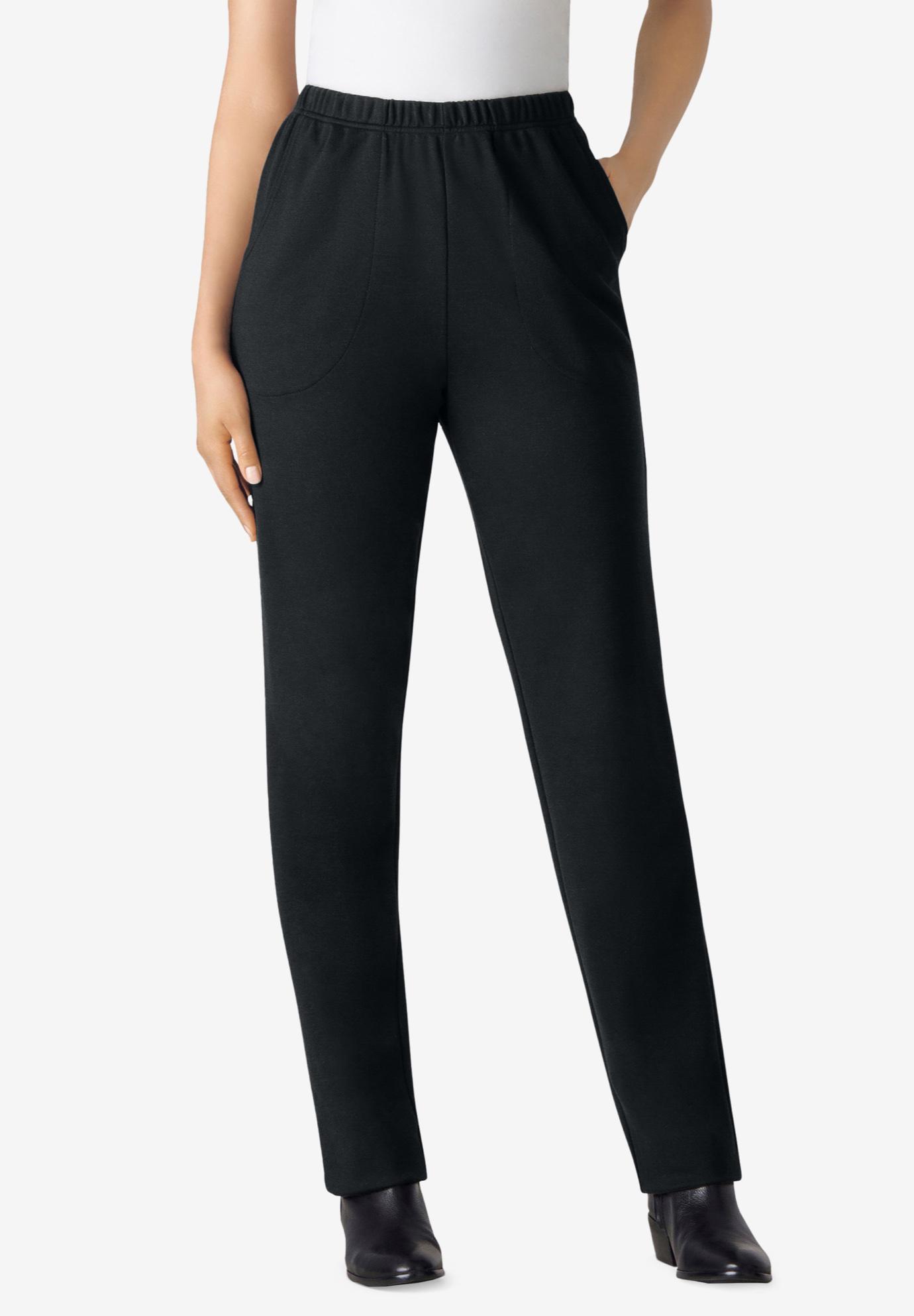 c2f05b84dca19 Straight Leg Ponte Knit Pant Plus Size Straight Leg Full Beauty