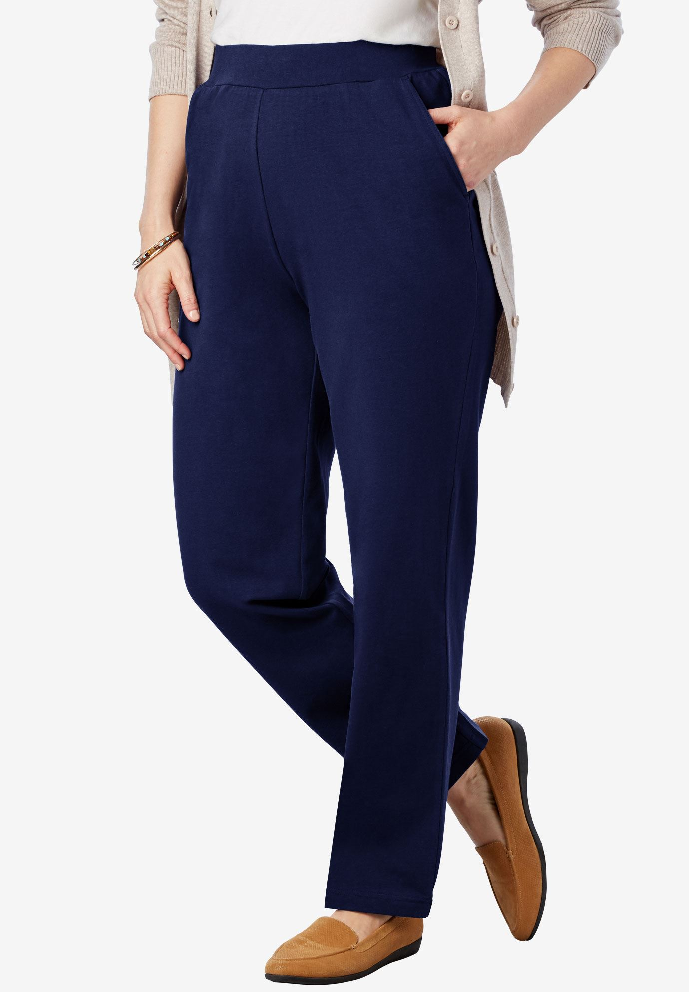 Straight Leg Relaxed Knit Pant,