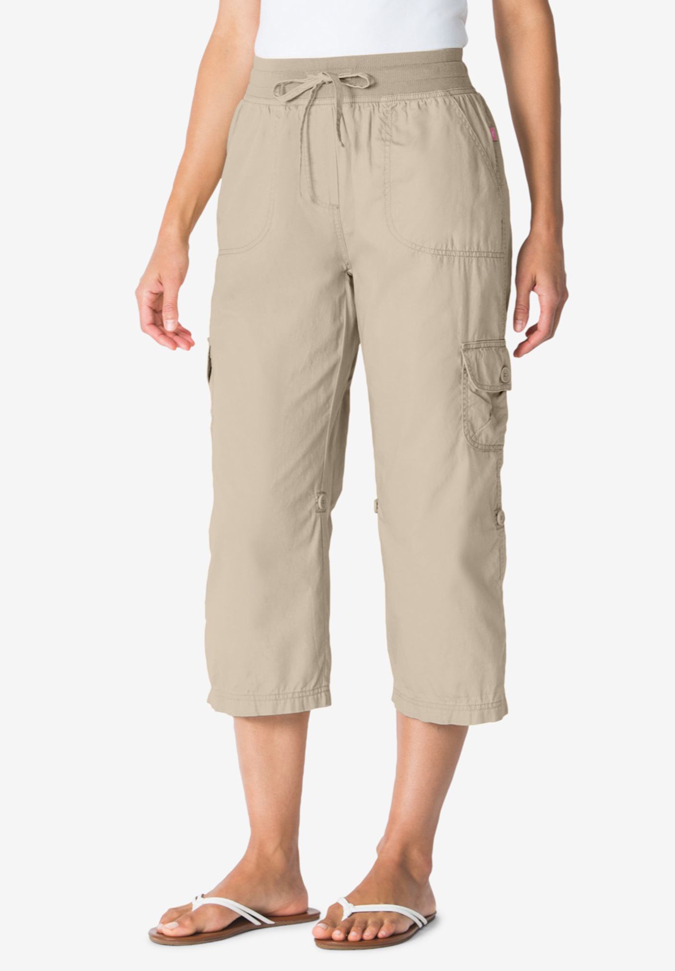 0933038cbc92b Convertible Length Cargo Capri Pant| Plus Size Shorts & Capris ...