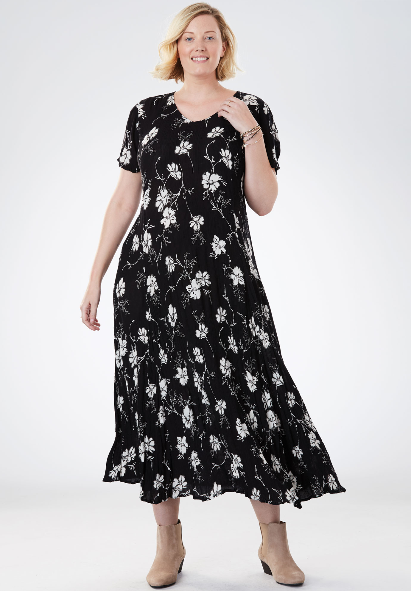 Crinkle Dress | Plus Size Casual Dresses | Full Beauty