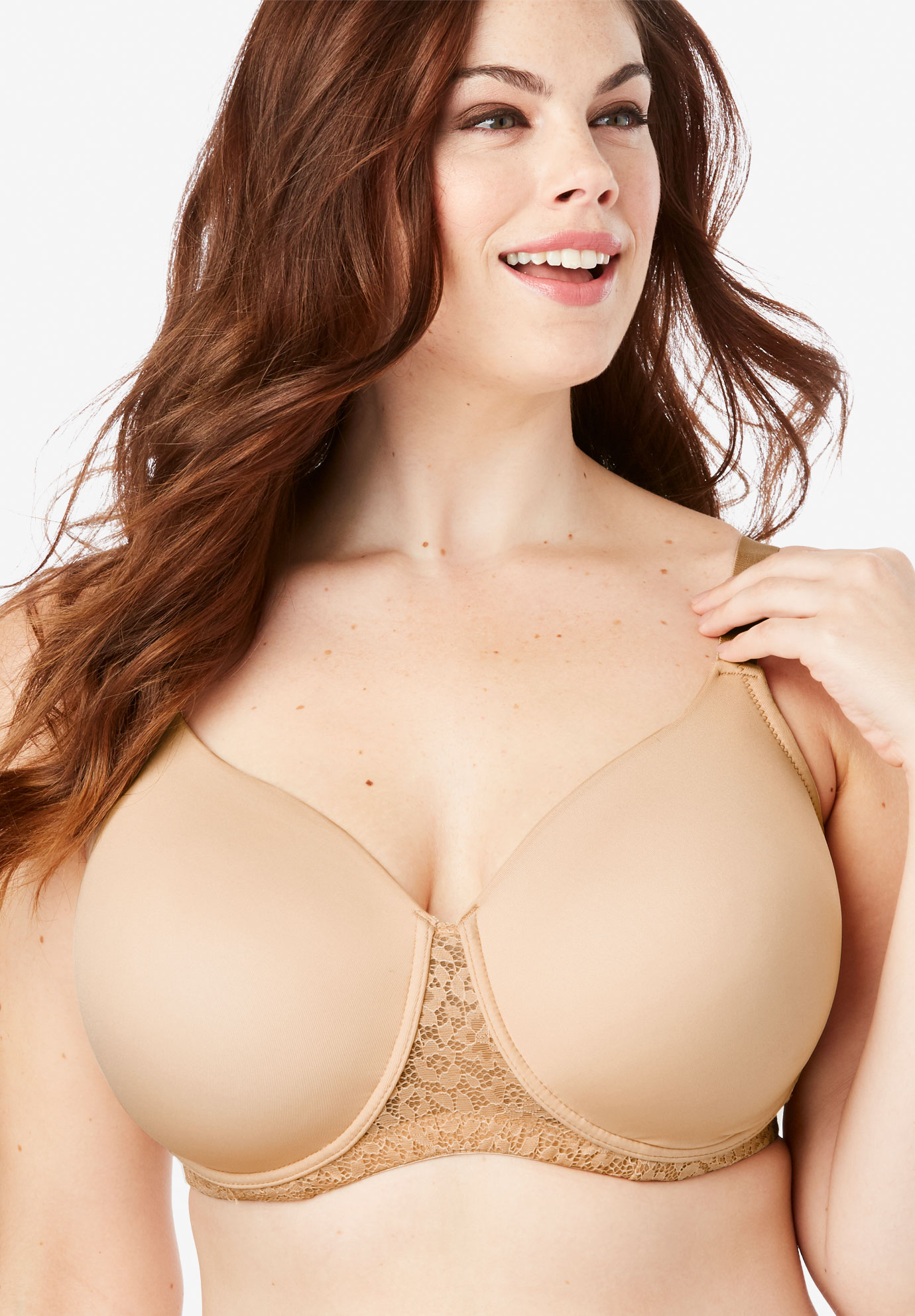a2cc88bddb Full Coverage Lace-Trim Underwire T-Shirt Bra by Comfort Choice ...