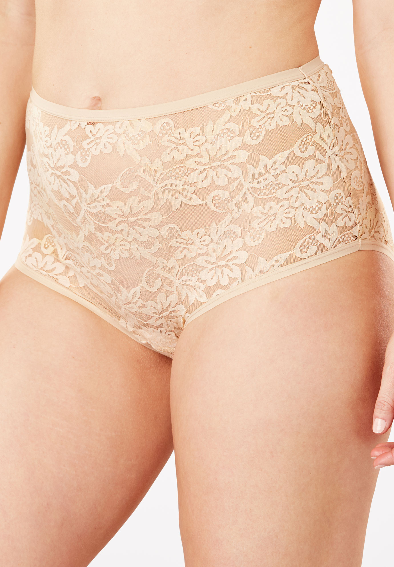 bccc7910e17 Allover Lace Full-Cut Brief Panty by Comfort Choice®