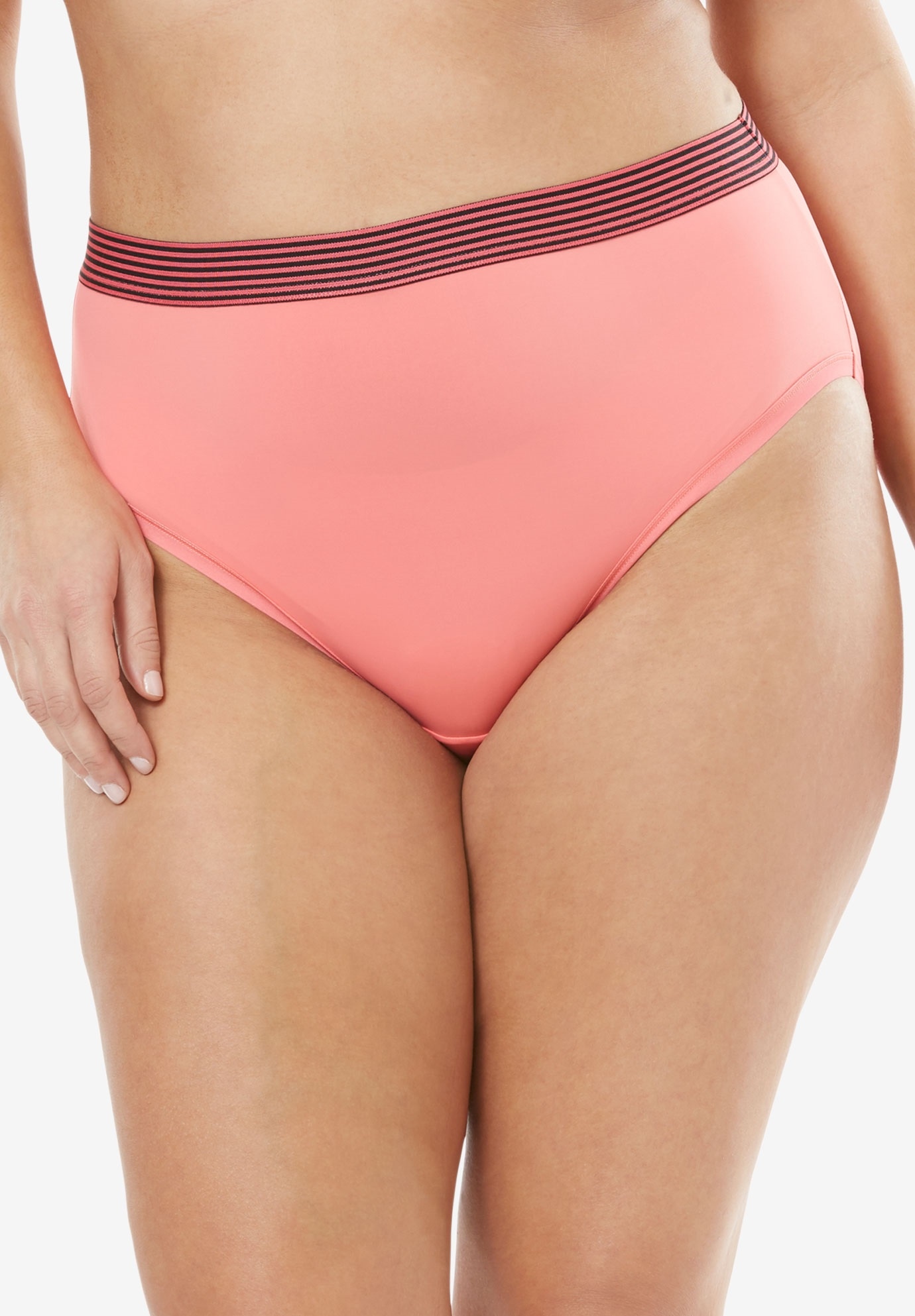 Comfort Choice® Total Comfort High-Cut Brief Panty 2-Pack,