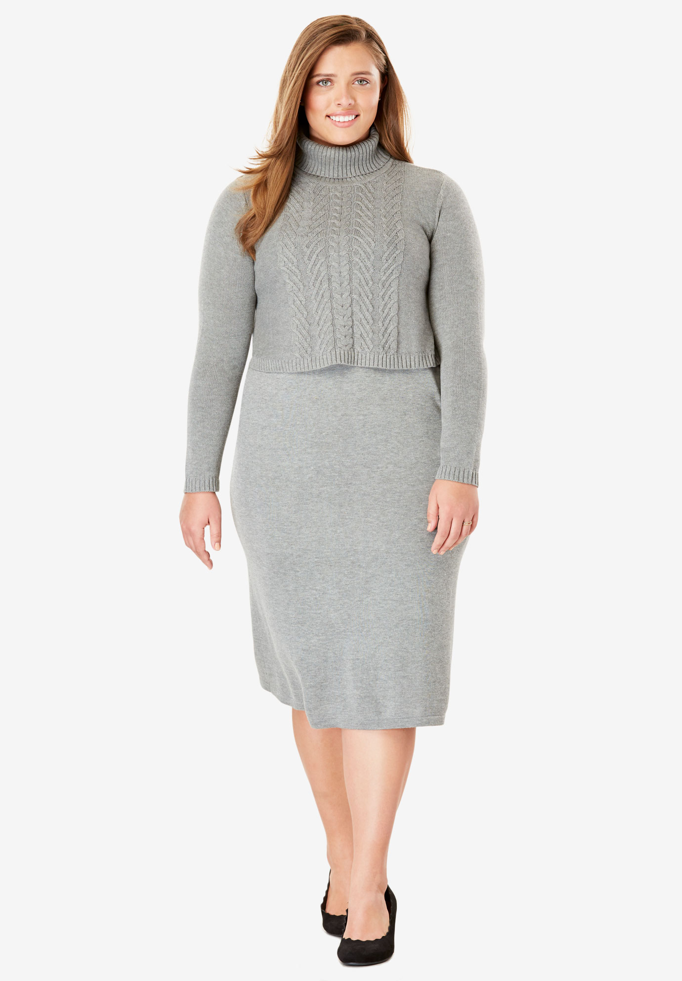 Popover Sweater Dress| Plus Size Casual Dresses | Full Beauty
