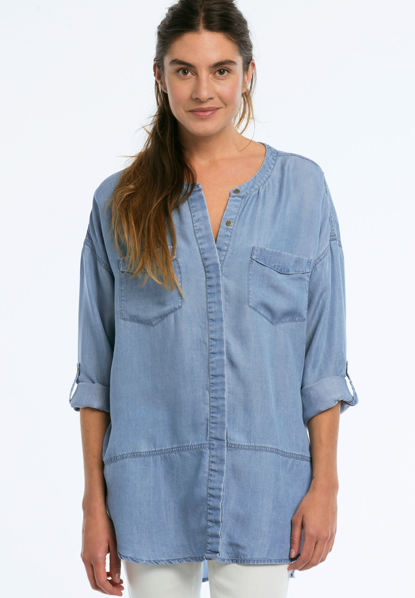 Patch Pocket Tencel Tunic by ellos®,
