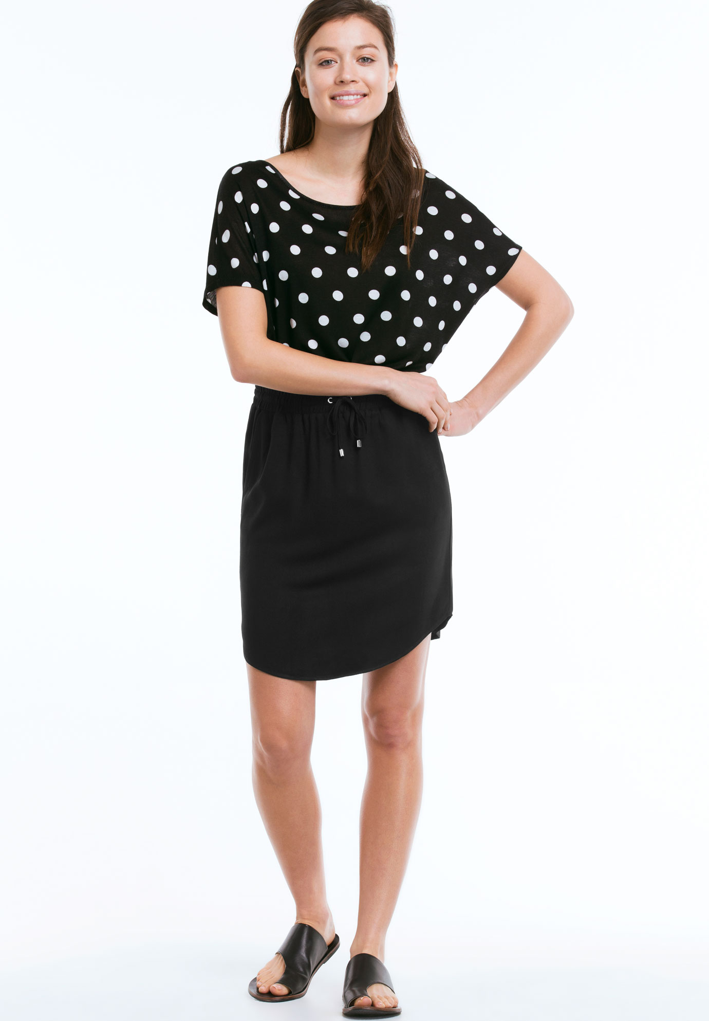 Shirttail Hem Skirt by ellos®,