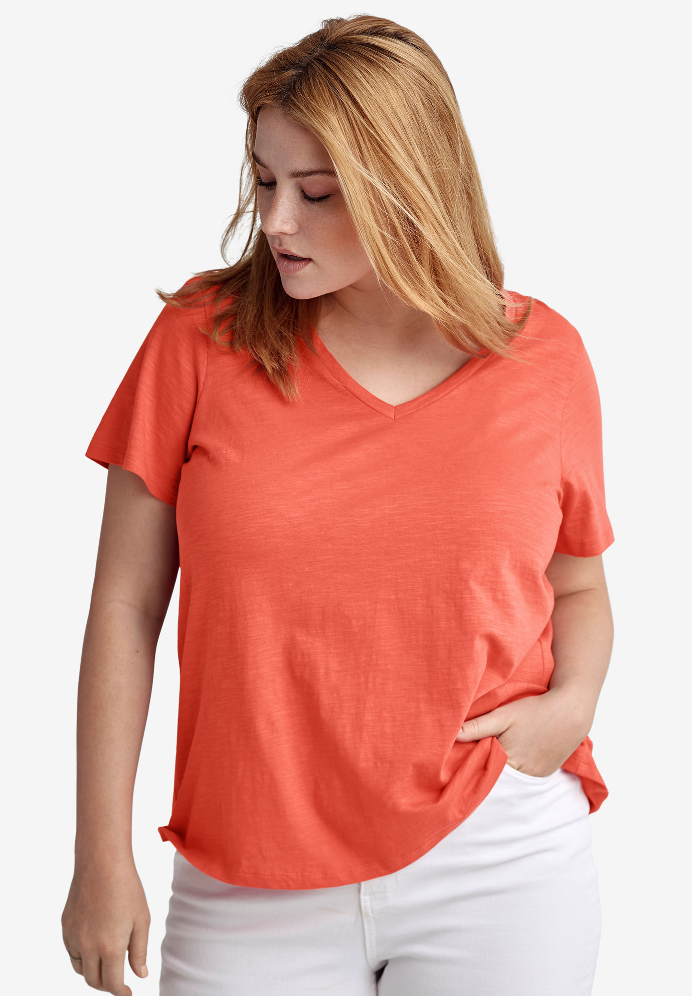 Pleat-Back A-Line Tee by ellos®,