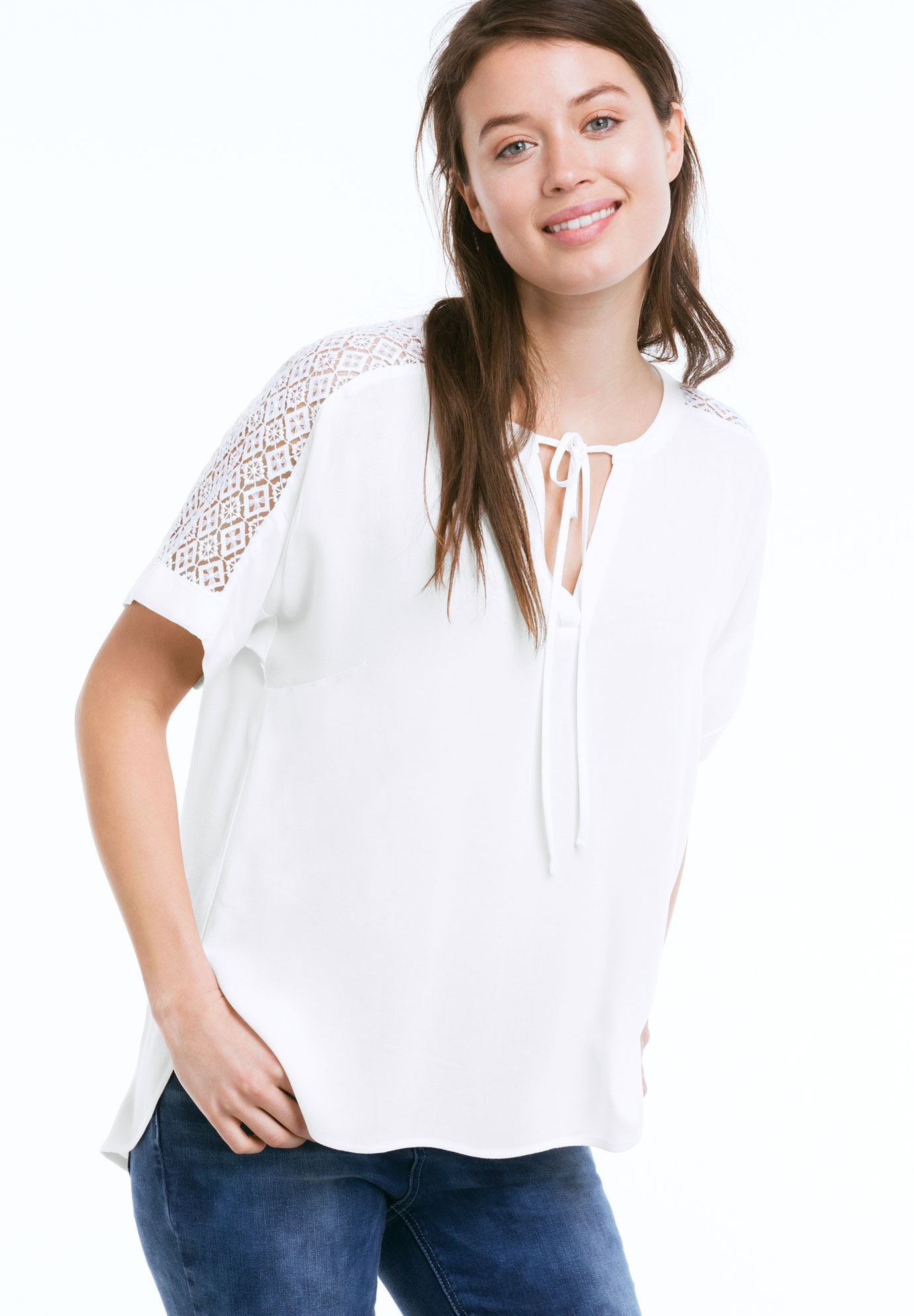 Lace Trim Blouse by ellos®,