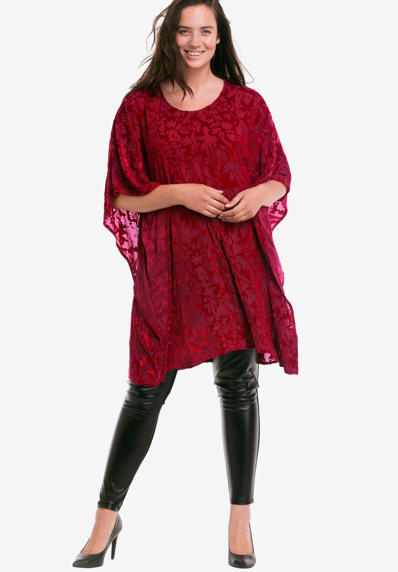 Burnout Velvet Tunic by ellos®,