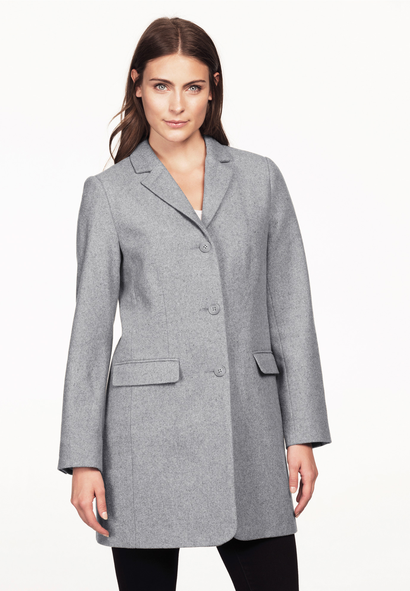 Long Wool Blend Blazer by ellos®,