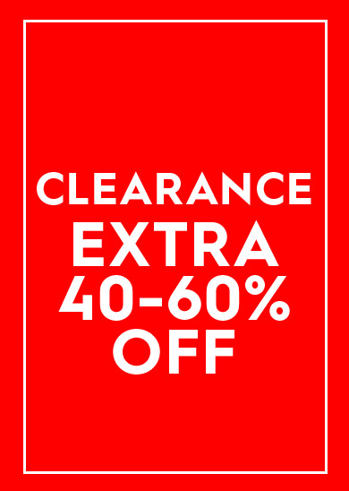 clearance extra 40-60% off select styles